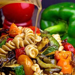 Roasted Pepper Whole Wheat Pasta Salad